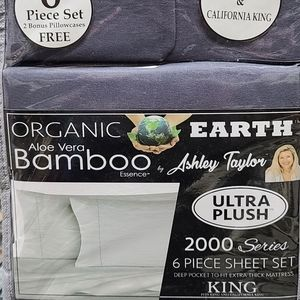 Aloe Vera Bamboo 6 Piece Sheet Set - King, Slate